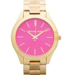 Michael Kors Watch - Gold w Pink Face